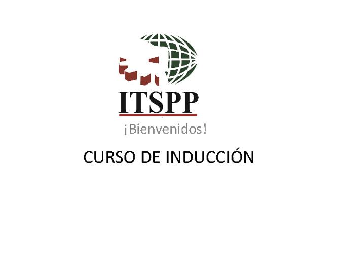 CURSO INDUCCION ITSPP 2012