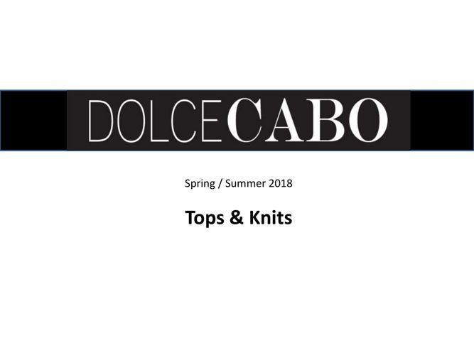 2018 Tops and Knits Spring Summer 1