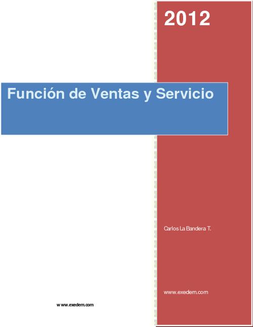 Función de Ventas y Servicio