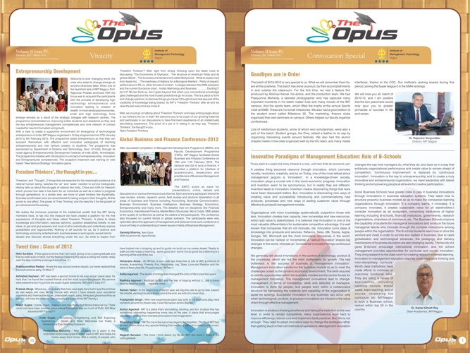 Convocation Opus