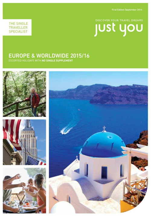 Just You Europe and Worldwide 2015-16 First Edition Sep 2014