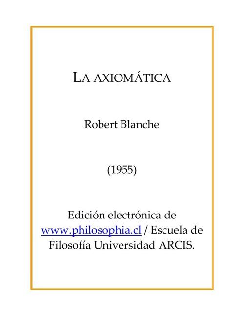 2.4.2 Formalización y Axiomática