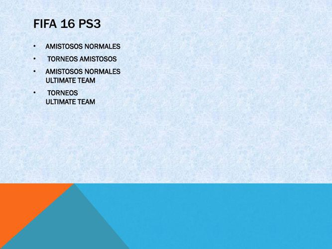 Fifa 16 ps3.2