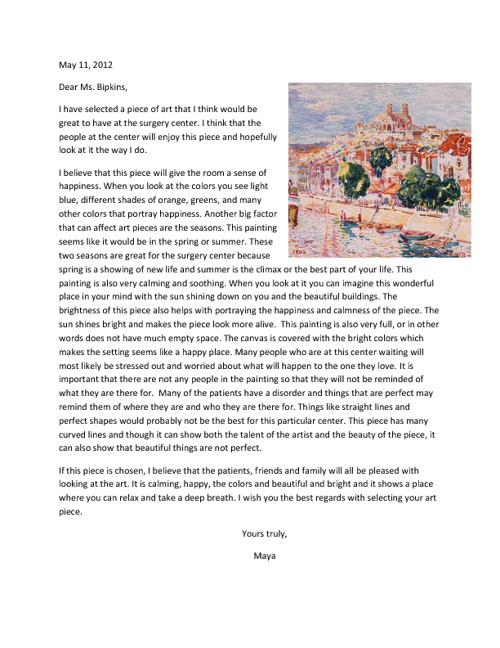 Letter to Ms. Bipkins