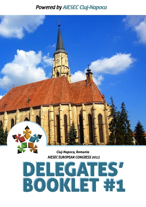First Delegates Booklet