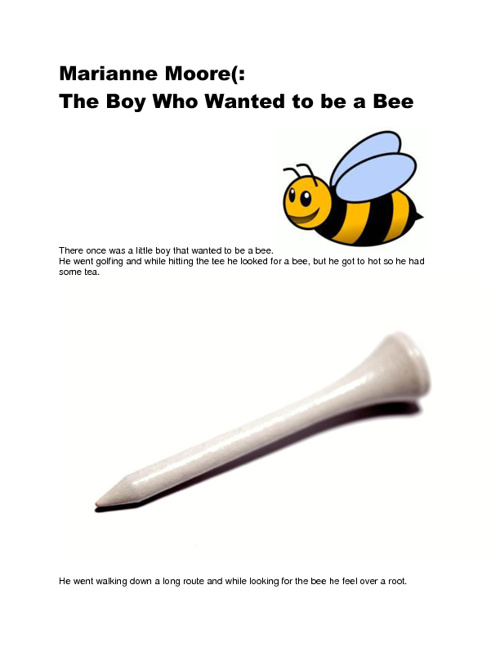 The Boy Who Wanted to be a Bee