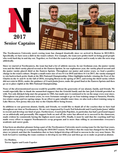 2017 Men's Rowing Newsletter
