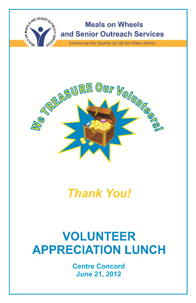 VOLUNTEER APPRECIATION PROGRAM