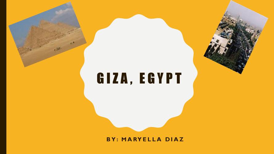 giza egypt final project