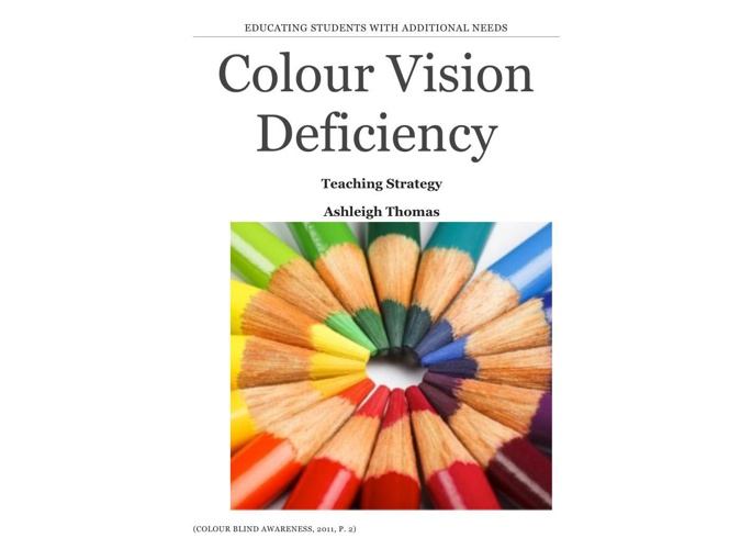Colour Vision Deficiency Strategy UTS Assignment
