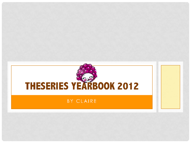 TheSeries Yearbook 2012