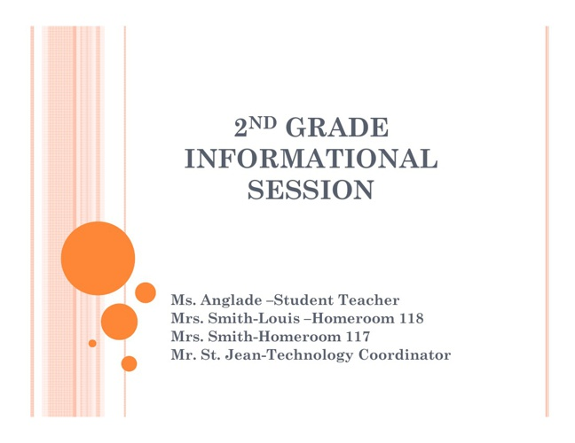 2nd Grade Informational Session 2012
