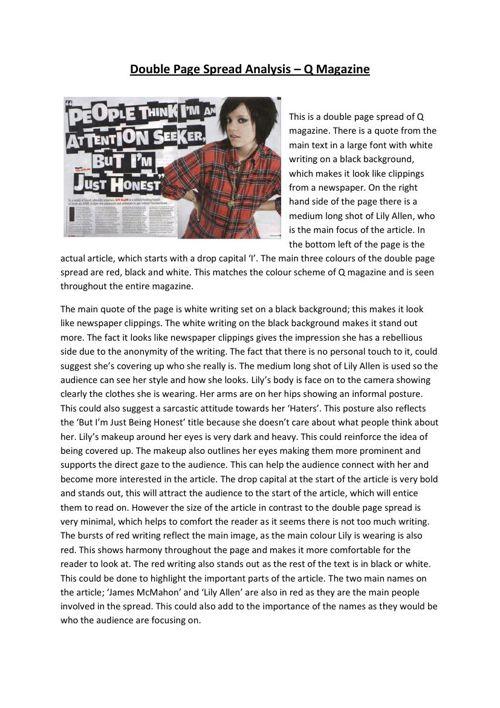 DPS Analysis - Q Magazine