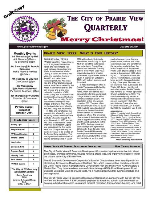 PV newsletter December 2014