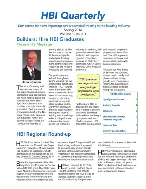 HBI Quarterly