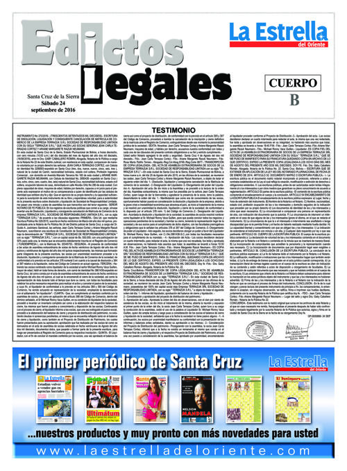 Judiciales 24 sábado - septiembre 2016