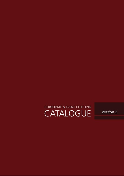 Corporate & Event Clothing Catalogue