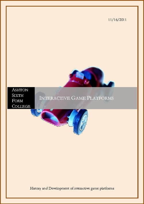 INTERACTIVE GAME PLATFORMS