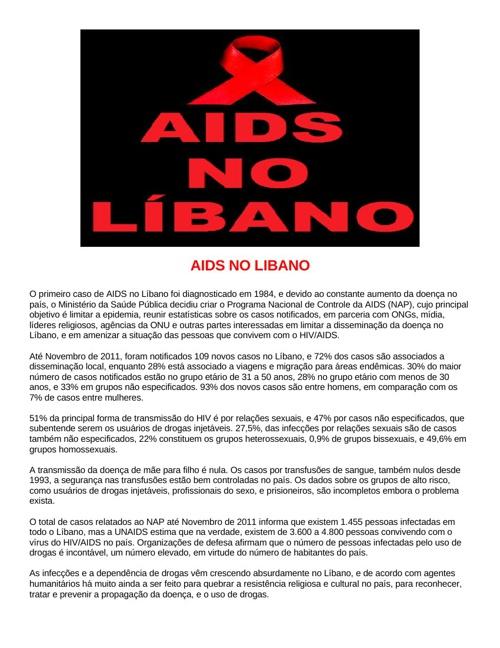 Aids ,   Especial p/GazetadeBeirute