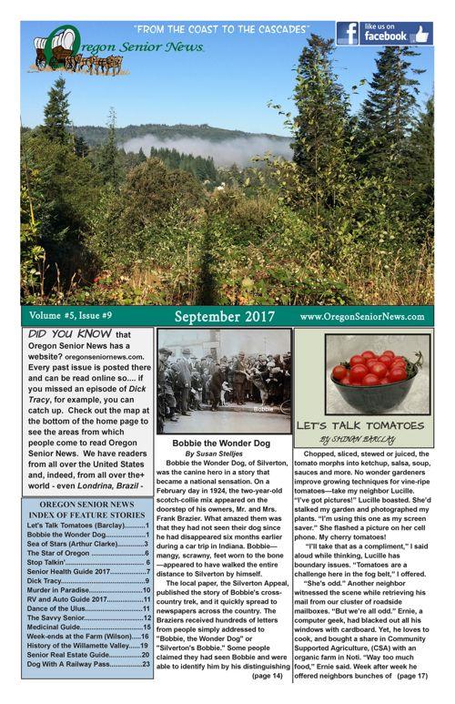Oregon Senior News September 2017 E-edition