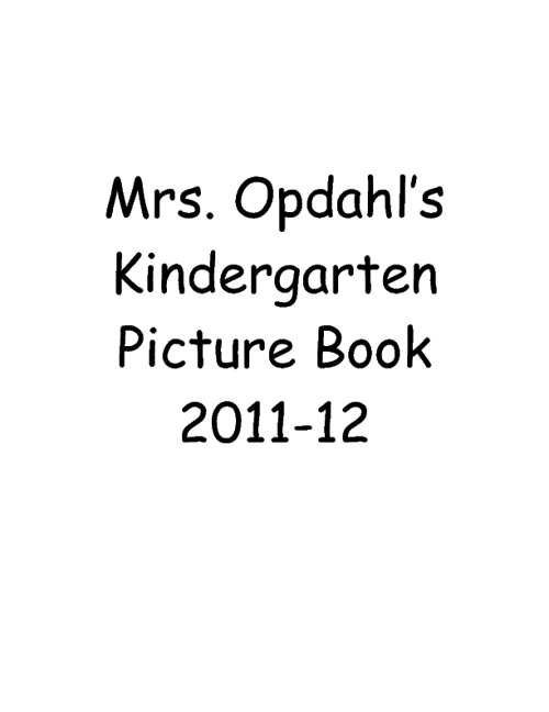 Mrs. Opdahl's Picture Book
