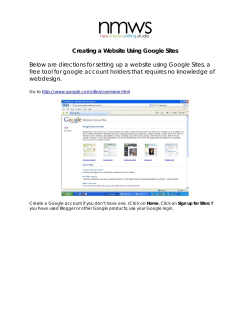 Setting-Up-A-Google Site