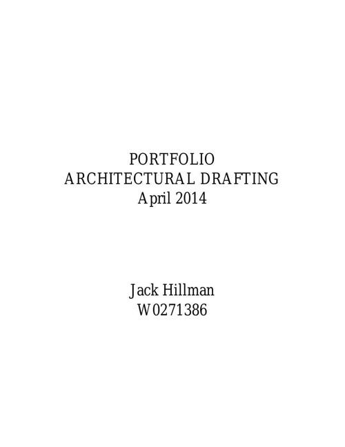 Jack Hillman Year One Portfolio
