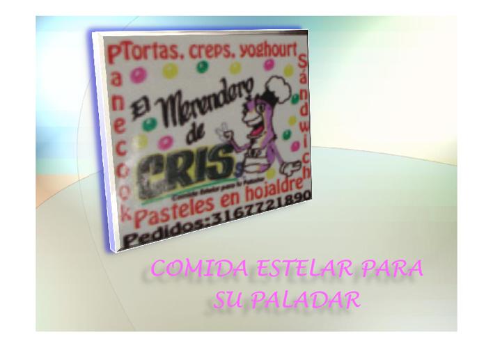 MENÚ EL MERENDERO DE CRISS