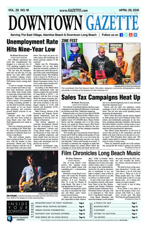 Downtown Gazette     April 29, 2016