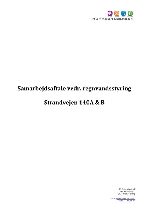 Samarbejdsaftale Strandvejen 140A & B