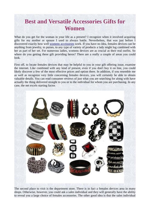 Best and Versatile Accessories Gifts for Women
