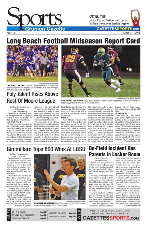 Gazette Sports | October 1, 2015