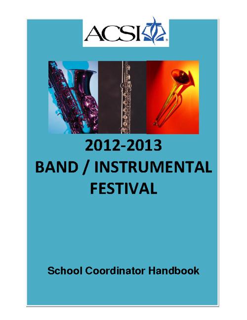 Band Coordinator Handbook