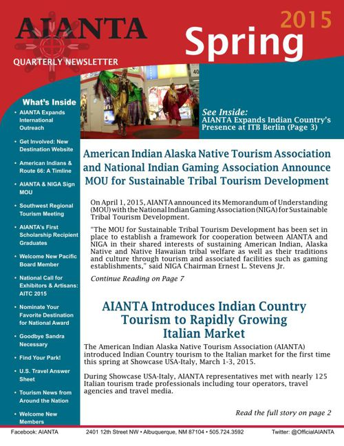 AIANTA Newsletter Spring 2015