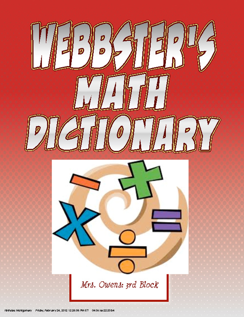 Webbster's Math Dictionary
