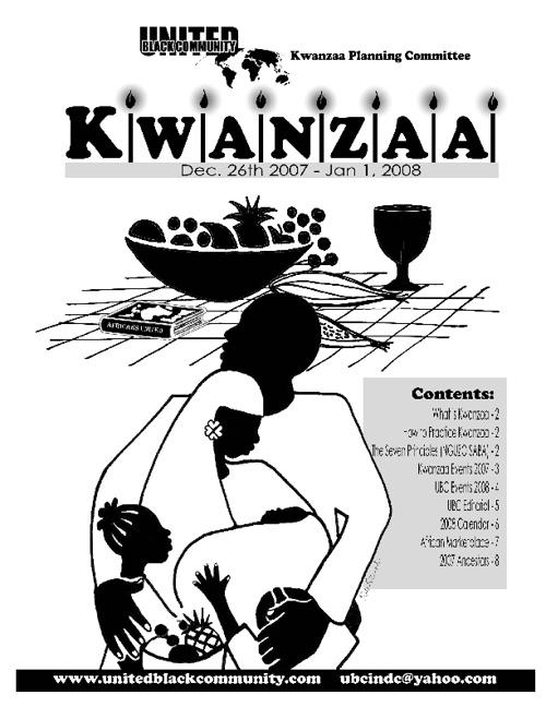 Kwanzaa Calendar 2007-2008
