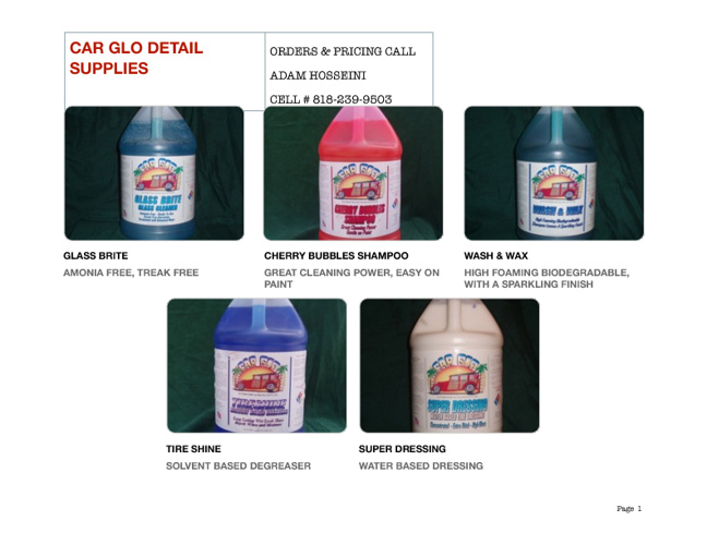 CAR GLO DETAIL SUPPLIES