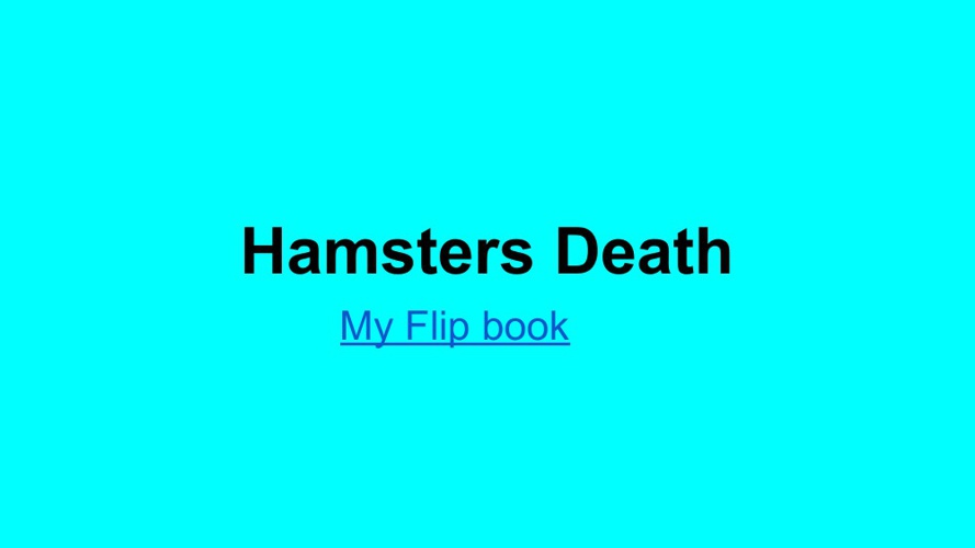 Hamster's Death