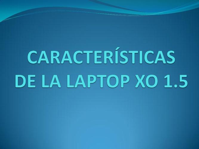 Laptop XO Secundaria