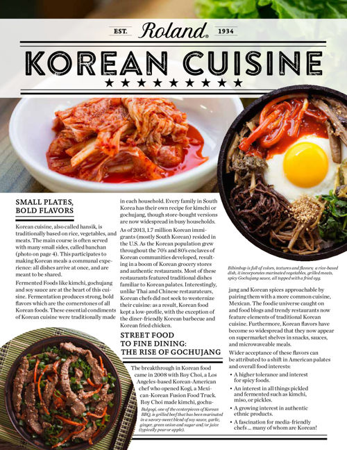Roland Foods Korean Cuisine Guide