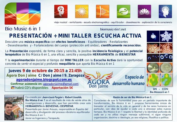 9/OCT/2014 Presentación + MINI TALLER ESCUCHA ACTIVA con BM6in1
