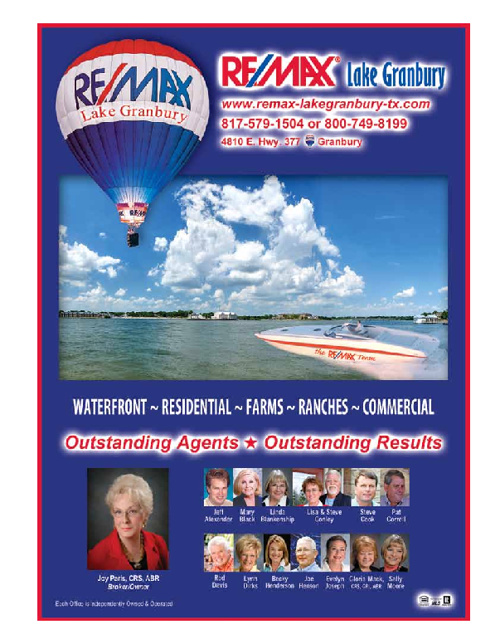 Granbury Chamber of Commerce - 2012 Virtual Area Guide