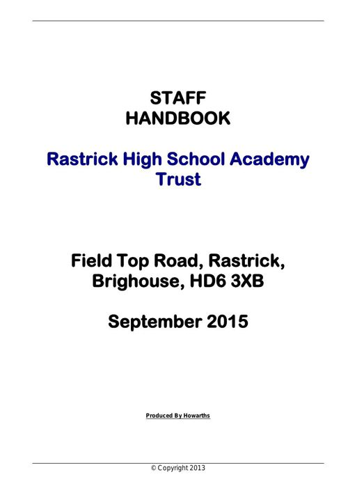 Staff Handbook - 2015-2016