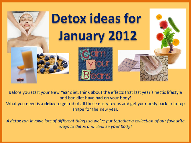 Detox Ideas for the New Year!