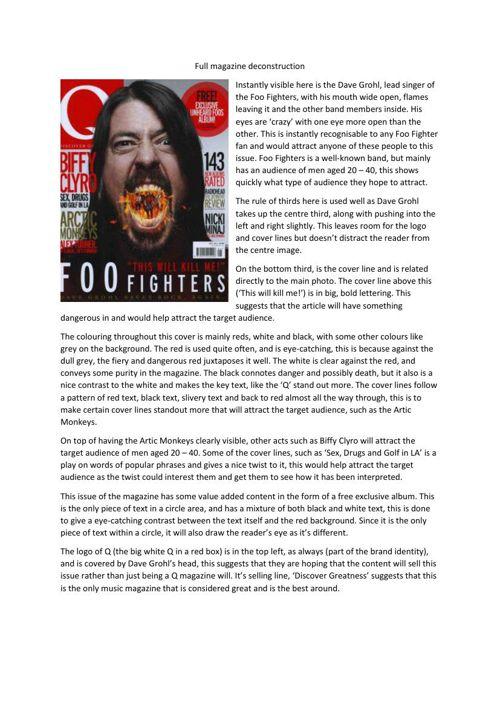 Full magazine deconstruction