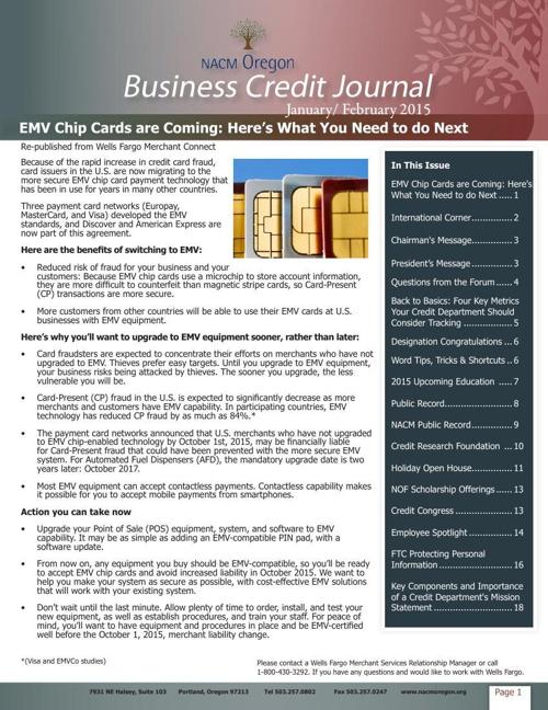 NACM Oregon Business Credit Journal - January/February