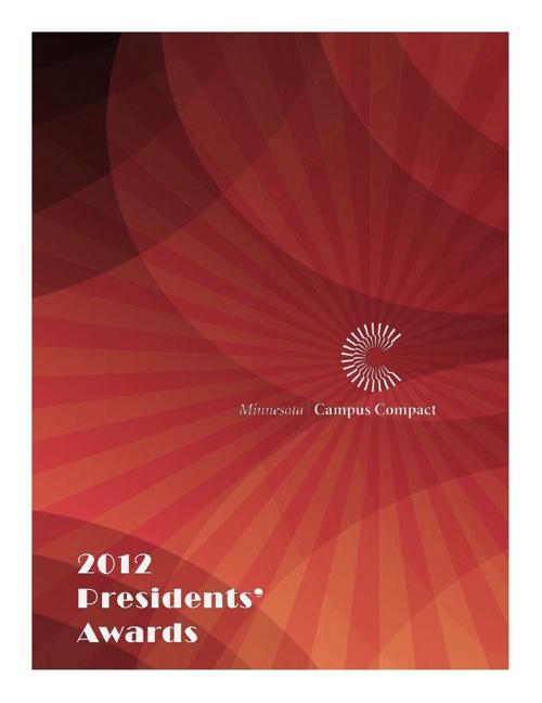 2012 Minnesota Campus Compact Presidents' Award Winners
