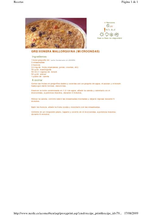 Las recetas del convento