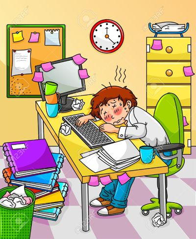 16525534-Very-tired-worker-or-student-Stock-Vector-stress-office