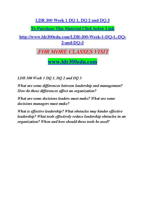 LDR 300 EDU The power of possibility/ldr300edudotcom
